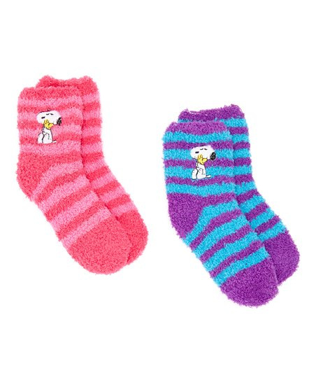 2c51b6f004 love this product Pink   Purple Peanuts Snoopy Stripes Two-Pair Socks Set -  Kids