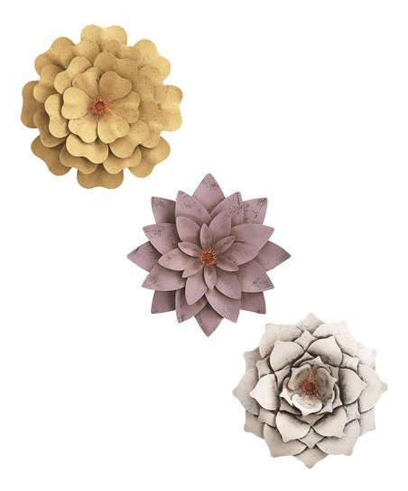 Metal Floral Wall Décor Set Of Three Best Price And Reviews Zulily