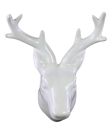 Love This Product White Ceramic Deer Head Wall Mount