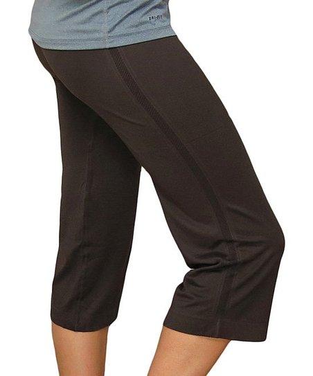 698e4e0f39 CocaLily Boutique Brown Capri Yoga Pants | Zulily