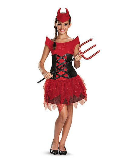 a922bd59 love this product Red Devilish Diva Dress-Up Set - Girls