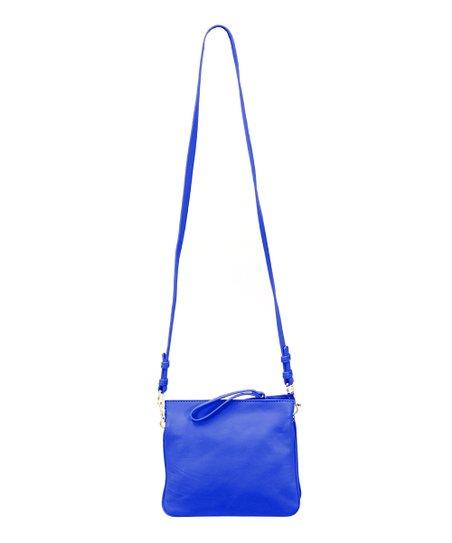 df72f431a920 Cynthia Rowley Cobalt Nixie Leather Crossbody Bag   Wristlet
