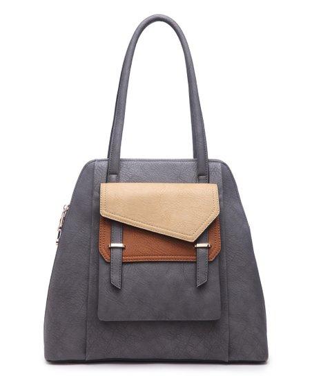 8d1aba2461 Segolene Paris Gray   Taupe Pocket Shoulder Bag