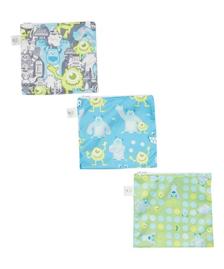 Disney Baby From Bumkins Disney Baby Monsters Inc Large Reusable Snack Bag Set Of Three Best Price And Reviews Zulily