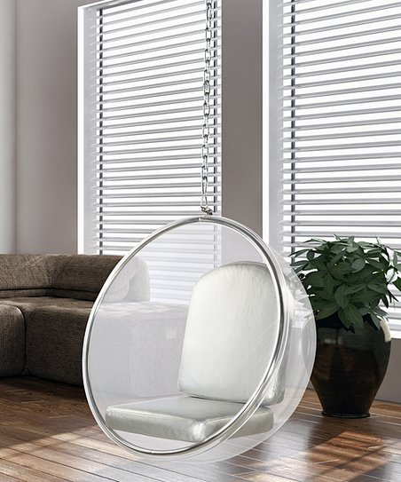 Fine Mod Imports Inc Silver Bubble Hanging Chair Zulily