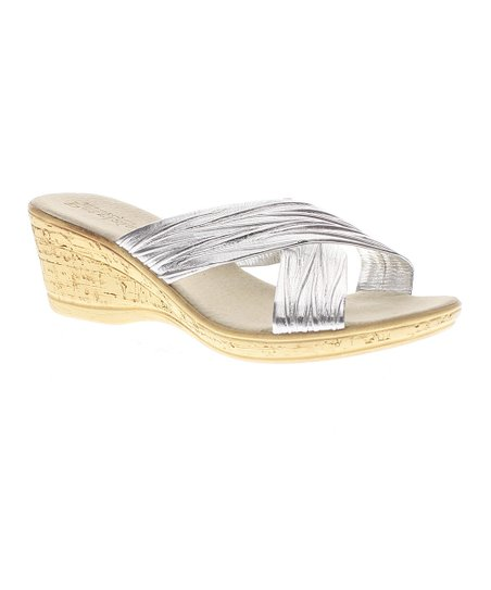 21512c14757 Patrizia by Spring Step Silver Marge Wedge Sandal - Women
