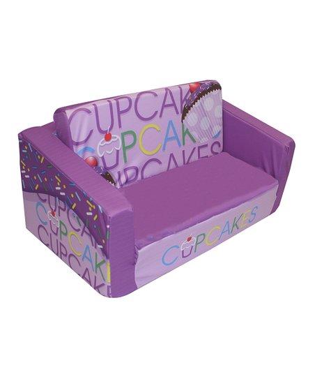 Komfy Kings Inc Lavender Cupcake Kids Flip Sofa Zulily