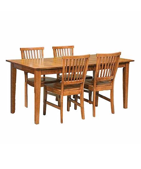 Wondrous Home Styles Cottage Oak Arts Crafts Five Piece Dining Set Beutiful Home Inspiration Truamahrainfo