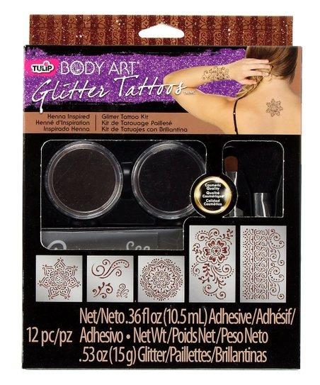 Tulip Glitter Henna Tattoo Set | Zulily