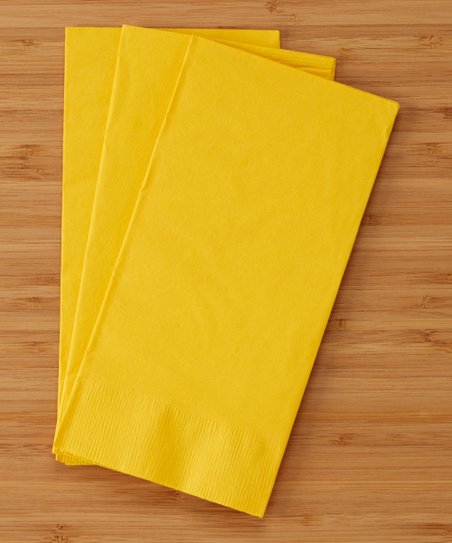 Creative Converting School Bus Yellow Two-Ply Dinner Napkin