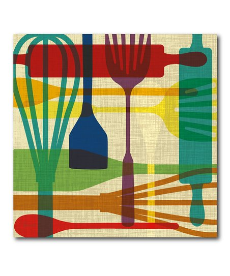 Courtside Market Colorful Kitchen Utensils Wrapped Canvas ...