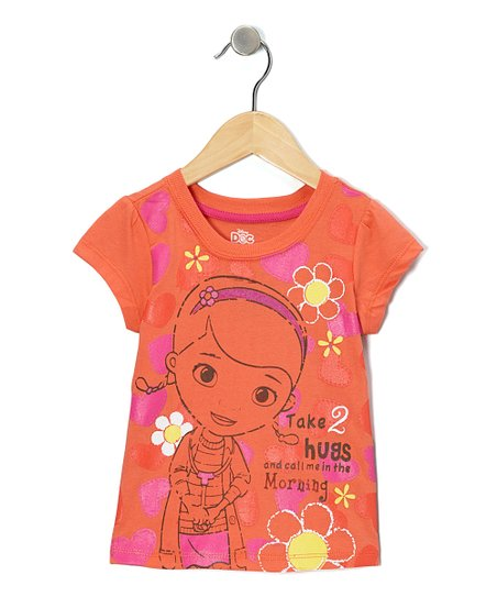93d6e1e3a355 Childrens Apparel Network Orange Doc McStuffins Take 2 Hugs Tee ...