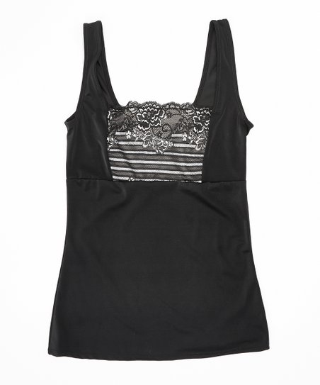 3ec613406f521 Heavenly Shapewear Black Lace-Front Shaper Camisole - Plus Too