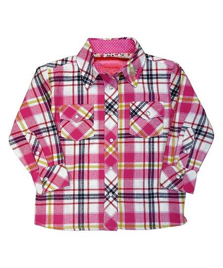 e1ec6102f Farm Girl Red & Black Plaid Shirt - Infant & Toddler   Zulily