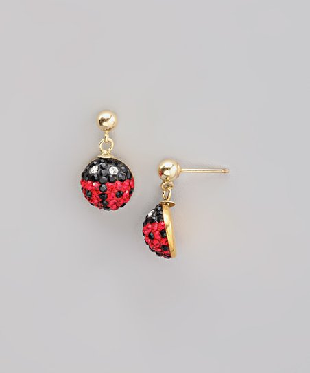 181ba8ef26491 ReLex 14k Gold & Red Ladybug Earrings With Swarovski® Crystals