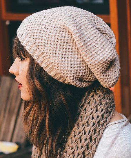 defa507ce3e love this product Oatmeal Waffle-Knit Beanie - Women