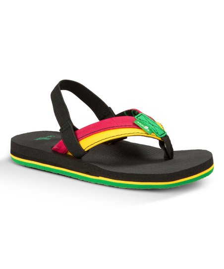 b52fc2ee1e43 love this product Red   Yellow Root Beer Back-Strap Flip-Flop - Toddler