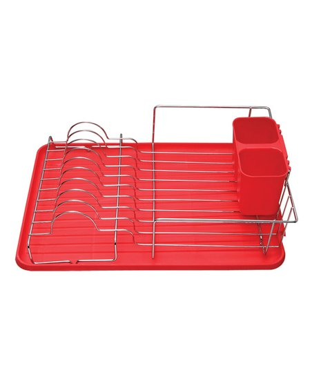 love this product Red Deluxe Drainer Dish Rack 97c0333d51