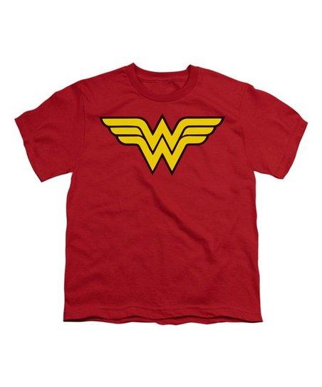 475c9399cc58c love this product DC Comics Red Wonder Woman Logo Tee - Kids