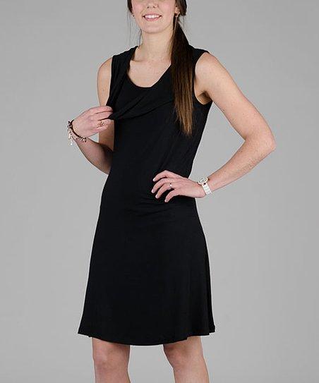 9d5a5fe81d Momzelle Black Zoe Maternity Nursing Dress