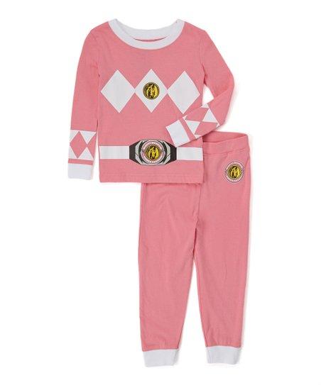 212b037c4e love this product Mighty Morphin  Power Rangers Pink Pajama Set - Girls
