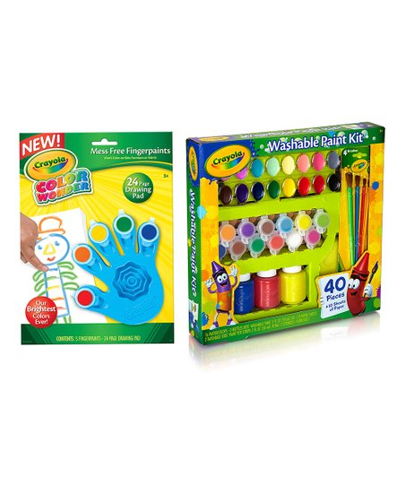 Crayola Washable Color Wonder Finger Paint Set Zulily