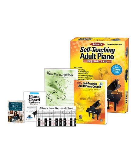 Daisy Rock Alfred's Self-Teaching Adult Piano: Beginner's Kit