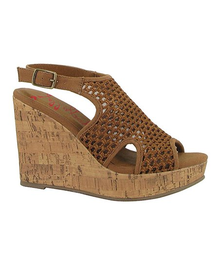 f19964d351e7d love this product Tan Woven Tara Wedge Sandal