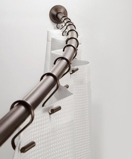 Bronze Adjustable Curved Shower Curtain Rod