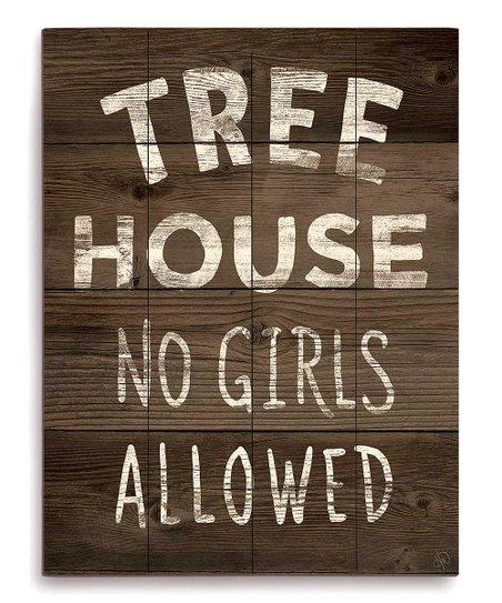 Magnificent Image Canvas Tree House No Girls Allowed Wall Art Beutiful Home Inspiration Xortanetmahrainfo