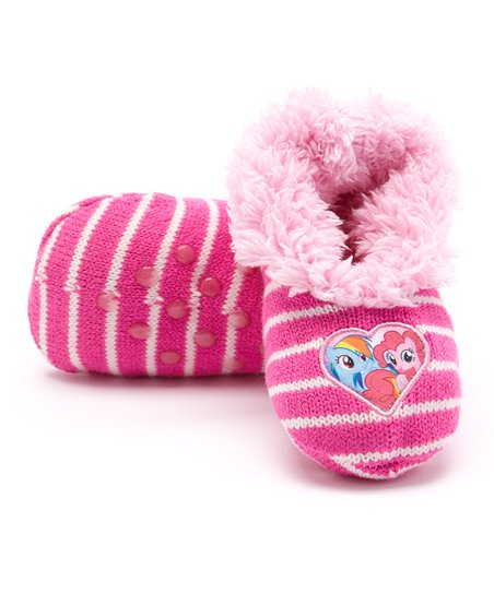 e19f40a44dd love this product Pink My Little Pony Teddy Fur Gripper Slipper Socks -  Girls