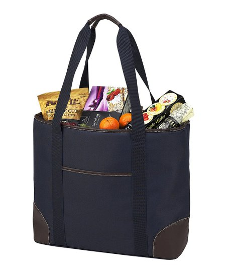 a2e07c1cef1 Picnic at Ascot Navy Extra-Large Insulated Cooler Tote | Zulily