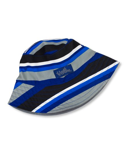 b6f7accd love this product Black & Gray Stripe Reversible Bucket Hat - Toddler & Boys