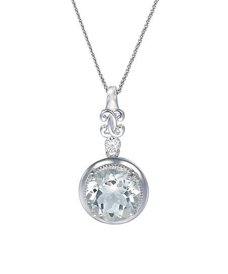 fef0c68d9862ec love this product Prasiolite & Sterling Silver Round Pendant Necklace