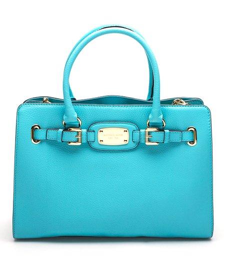 898fb3636773 MICHAEL Michael Kors Aquamarine Leather Hamilton Large East West ...