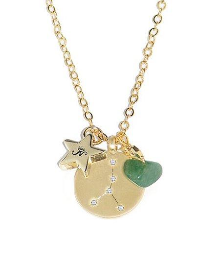 Joseph Nogucci Emerald & Gold Cancer Zodiac Birthstone Necklace