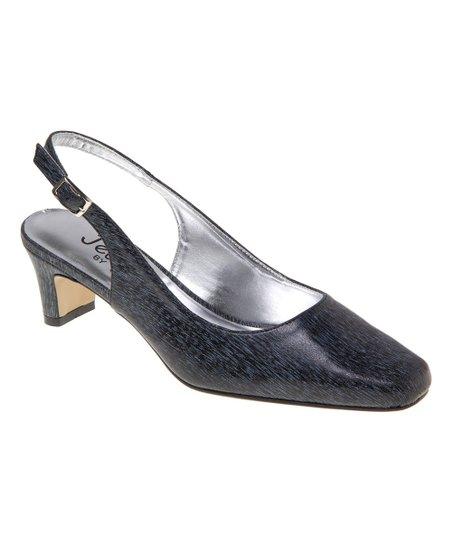 Jade Shoes Black Wide-Width Slingback