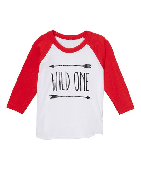 48c909b8 love this product Red & White 'Wild One' Raglan Tee - Infant, Toddler & Boys