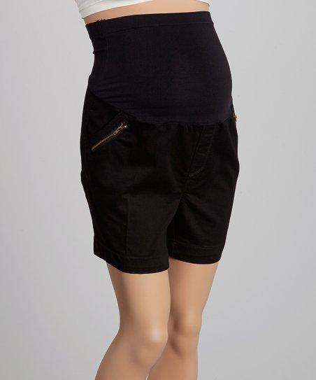 eb6c24e48 love this product Bella Vida Black Over-Belly Maternity Shorts - Plus