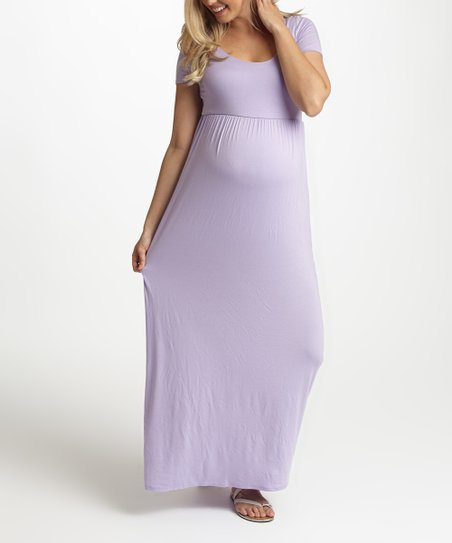 7a065b2e2a2aa PinkBlush Maternity PinkBlush Lilac Maternity Maxi Dress | Zulily