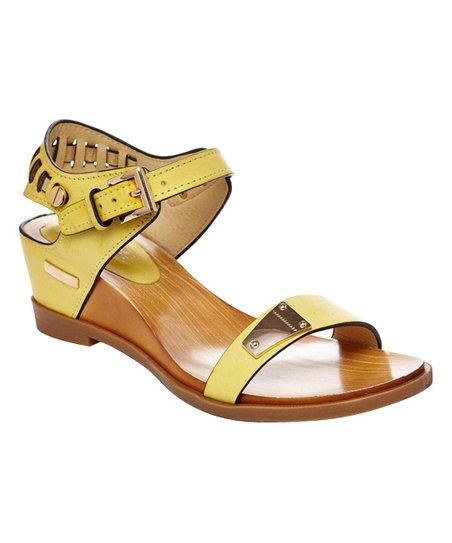 5644291e0b0 CheckList Yellow Angie Wedge Sandal