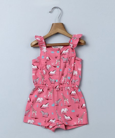 16bcd0a6f84 love this product Pink Animal Romper - Newborn