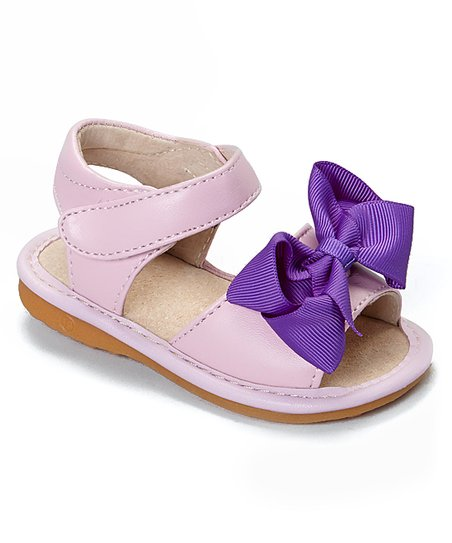 7cf21e8805 love this product Light Pink   Purple Add-a-Bow Squeaker Sandal - Girls