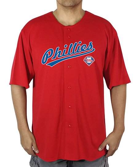 Stitches Athletic Gear Philadelphia Phillies Button Up Team Jersey