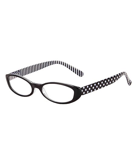 ee6ba62a839 I Heart Eyewear Black   White Polka Dot Domino Eye Candy Readers ...