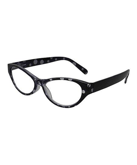 84b11eca41 I Heart Eyewear Black   White Figaro Readers