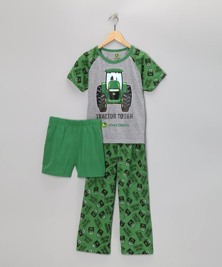 d604b70c89 love this product Green 'Tractor Tough' Pajama Set - Toddler & Boys