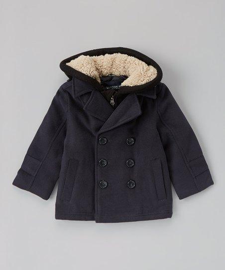 12299a823498 London Fog Gray Pea Coat - Infant