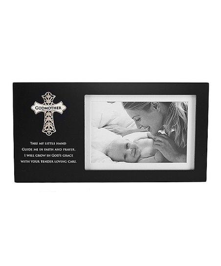 GANZ Black Regal Cross Godmother Frame | zulily