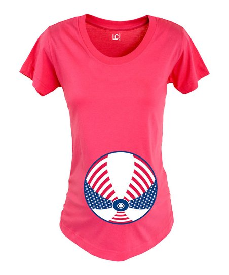 e3586e470b615 Belly Love Fuchsia Patriotic Beach Ball Maternity Tee - Women   Zulily